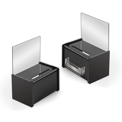 "6"" x 4"" Mini Acrylic Ballot Box, Black"