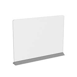 "31.5"" x 23.5"" Two-Part Countertop Sneeze Guard, Protective Cashier Safety Shield"