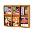 6 Pocket Magazine / 12 Pocket Brochure Wall Display with Dividers