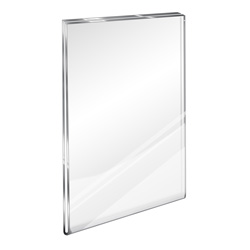 "Flush Top Acrylic Wall Sign Holder, 8-1/2"" x 11"""