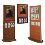 Wood Kiosk Stands