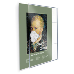 "Break-Resistant Wall Poster Holder, 24"" x 36"""
