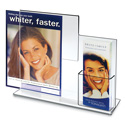 Deluxe Combo Sign Frame with Tri-fold Pocket
