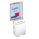 Molded Ballot Box, White with Large Header