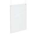 "23.5"" x 31.5"" Hanging Sneeze Guard, Protective Register Safety Shield"