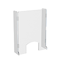 "23.5"" x 31.5"" Hinged Countertop Sneeze Guard, Protective Cashier Safety Shield, with Side Walls"