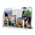 "2-Tier Open Shelf Brochure Center, 18-1/2"" Wide"