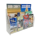 "3-Tier Open Shelf Brochure Center, 18-1/2"" Wide"