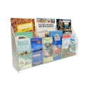 "3-Tier Open Shelf Brochure Center, 26"" Wide"