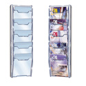 5 Pocket Economy Overlap Magazine Wall Rack, clear