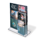 "Upright Sign/Brochure Holder Combo, 8-1/2"" x 11"""