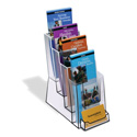 4-Tier Tri-Fold Holder with Business Card Pocket