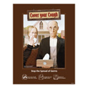 American Gothic Cover Your Cough Posters
