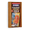 2 Pocket Slanted Magazine Wall Rack