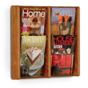 4 Pocket Slanted Magazine Wall Rack