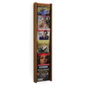 6 Pocket Slanted Vertical Magazine Wall Rack