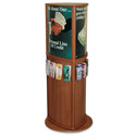 Deluxe Oak 3-Sided Kiosk