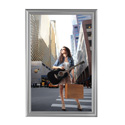 "24"" x 36"" Decorative Snap Poster Frame, Silver"