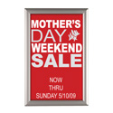 "Convertible Sign Snap Frame, 11"" x 17"", Silver, Without Counter Support"