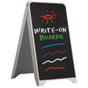 "20"" x 35"" Pavement Sign with Erasable Chalkboard"