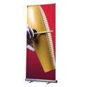"31"" x 80"" OptiMax Retractable Banner Stand with Bag"