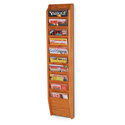 10 Pocket Magazine Wall Rack