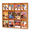 12 Pocket Magazine / 24 Pocket Brochure Wall Display with Dividers