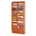 20 Pocket Magazine Wall Rack