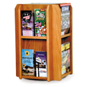 8 Pocket Magazine / 16 Pocket Brochure Rotating Counter Display