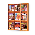 9 Pocket Magazine / 18 Pocket Brochure Wall Display with Dividers