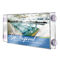 "Glass Mount Acrylic Sign Holder, 17"" x 11"""