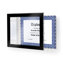 "Black Border Acrylic Wall Frame, 13"" x 10-1/2"""